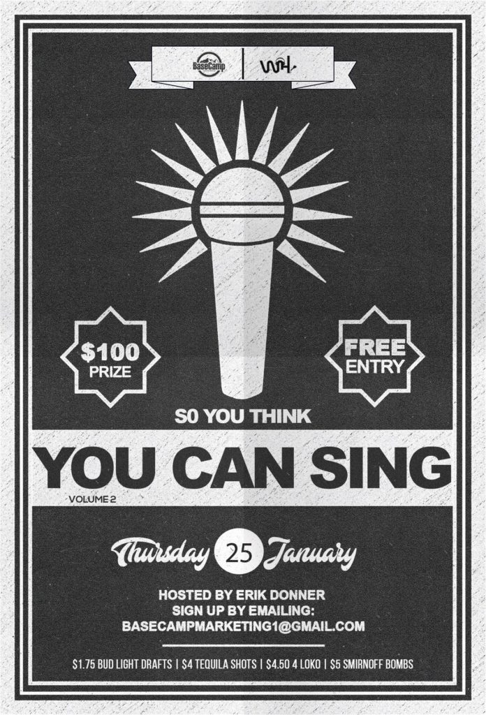 So you think you can sing?