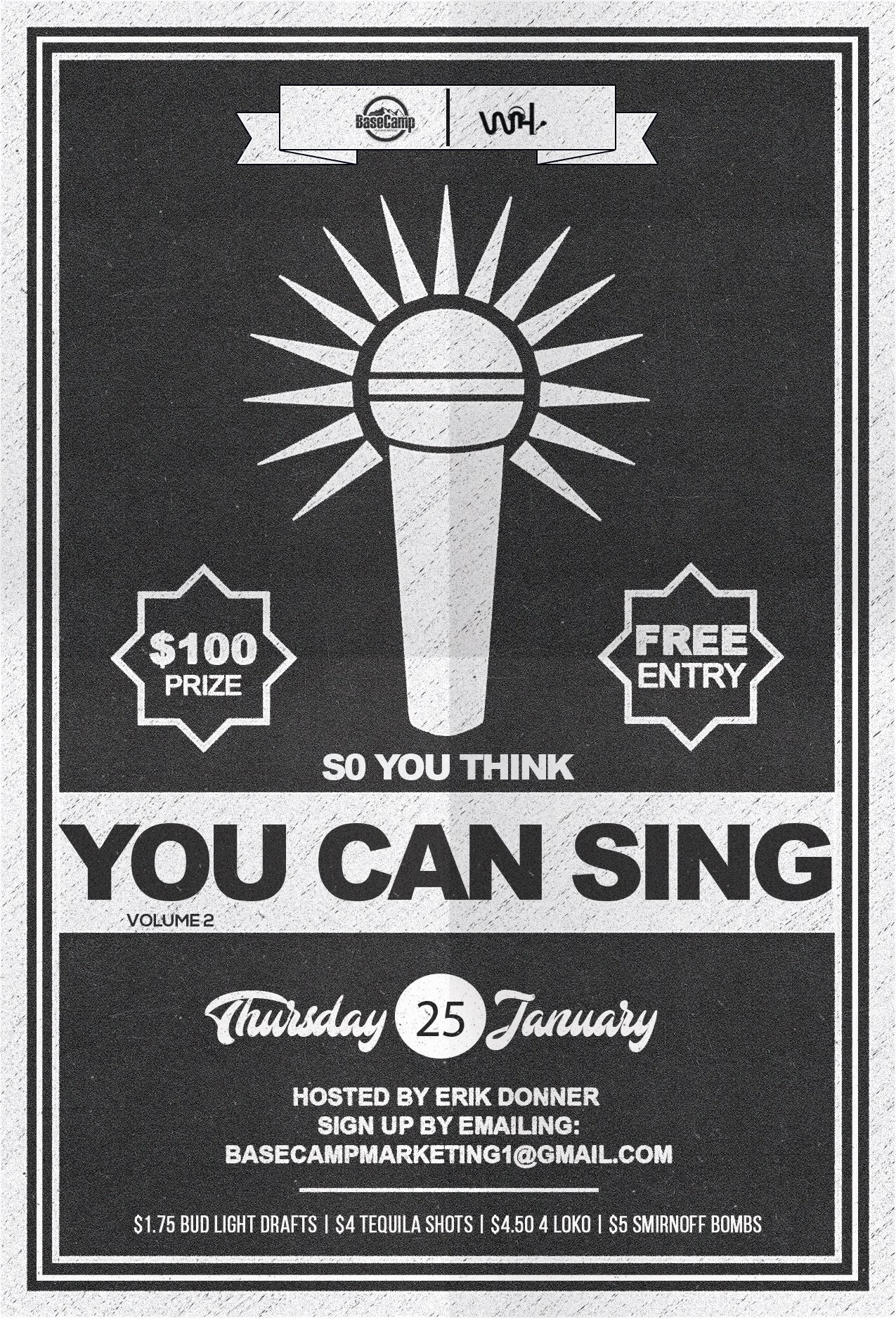 So You Think You Can Sing? Live Karaoke Contest - Vol. 2