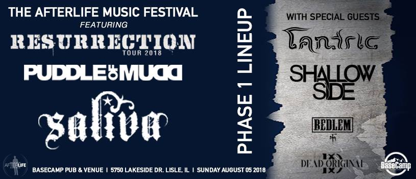 Afterlife Music Fest Ft Puddle of Mudd, Saliva, Tantric & More